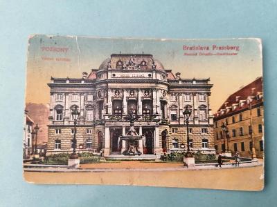 Pohled Bratislava Mestské Divadlo