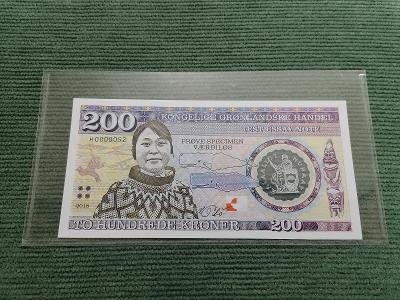 200 grónských korun 2018, polymer, H0000052, stav UNC