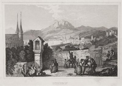 Luzern,oceloryt, 1850