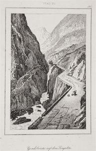 Gondo Simplon, Le Bas, oceloryt 1840