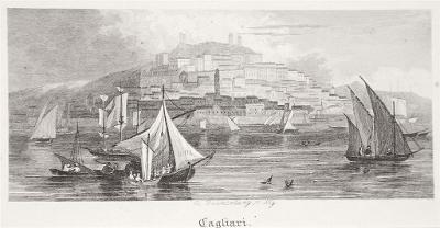 Cagliari,  oceloryt, 1850