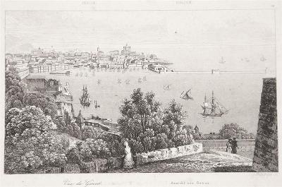 Genova, Le Bas, oceloryt 1840