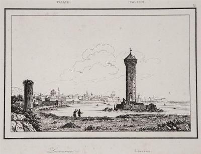 Livorno, Le Bas, oceloryt 1840