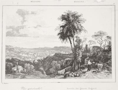 Messina, Le Bas, oceloryt 1840
