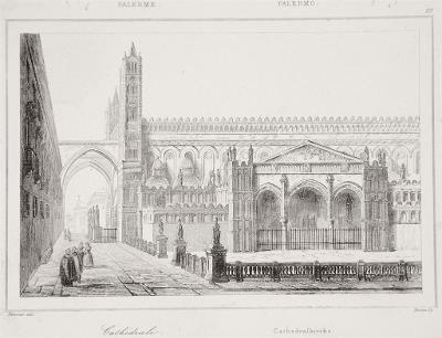 Palermo Duomo, Le Bas, oceloryt 1840