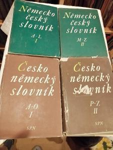 Česko.německý a německo-český slovník - 4 svazky