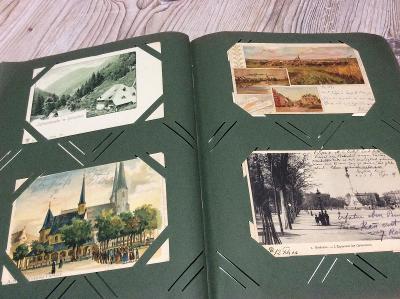 270 x STARÁ POHLEDNICE z období 1896-1905 ve starém albumu - Místopis