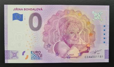 Jiřina Bohdalová, pamětní bankovka, stav UNC