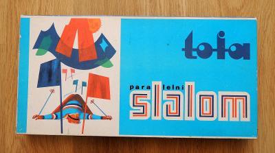 TOFA stará retro hra Paralelní slalom , retro stolní hra
