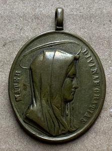 18 st. Ježíš Panna Marie stará medaile velká svátostka RU TOP medailon