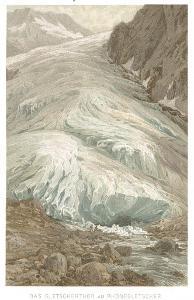 Rhonegletscher, chromolito, (1900)