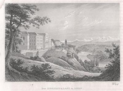 Bern Bundespalast, Meyer, oceloryt, 1860