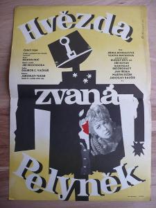 Hvězda zvaná Pelyněk (filmový plakát, film ČSSR 1964,