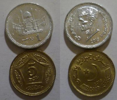 Pákistán 1+5 rupie 2015