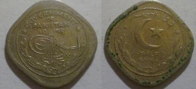 Pákistán 1/2 anna 1948
