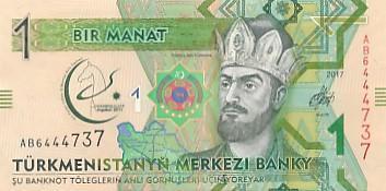 Turkmenistán 1 manat UNC jubilejní