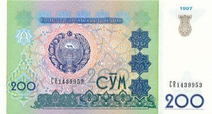 Uzbekistán 200 sum UNC