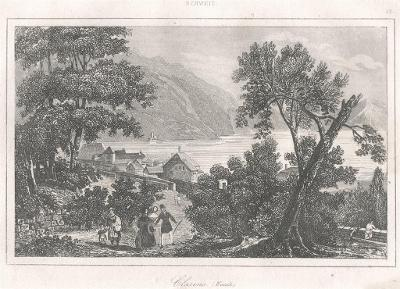 Clarens , Le Bas, oceloryt 1842