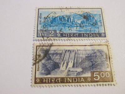 Prodávám známky Indie 1967, Krajiny, jezera a stavby