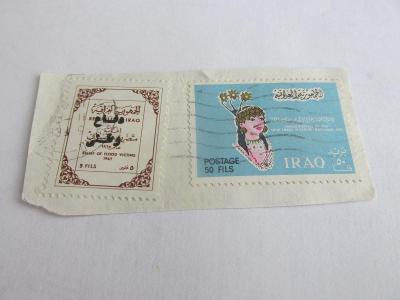 Prodávám ústřižek obálky - Írák 1967, raženo