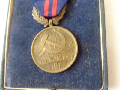 Bronzová číslovaná medaile v originál etui za vynikající práci