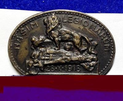 LEGIONÁŘ – LEGIE – našim legionářům – stojící lev – 28.X.1918