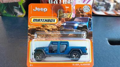 Matchbox Jeep Gladiator modrý 2021 NOVINKA