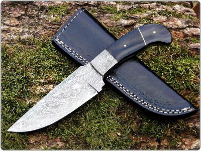 132/ Damaškový lovecky nůž. Rucni vyroba.