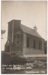Bedřichov stavba kostela Friedrichswald Jablonec n. Nisou Liberec 1930