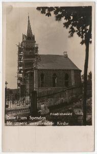 Bedřichov stavba kostela Friedrichswald Jablonec n. Nisou Liberec 1932