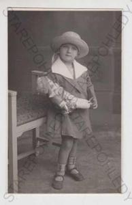 Děti - foto, dítě, panenka, panna, hračka, klobouk