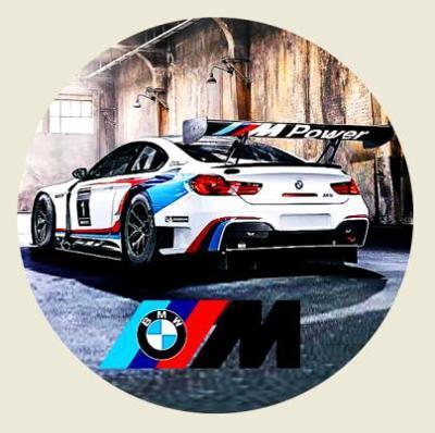BMW M Power, bílá samolepka pr.7-(1x).