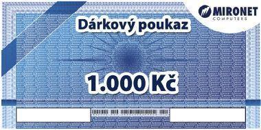 Dárkový poukaz Mironet 1000Kč