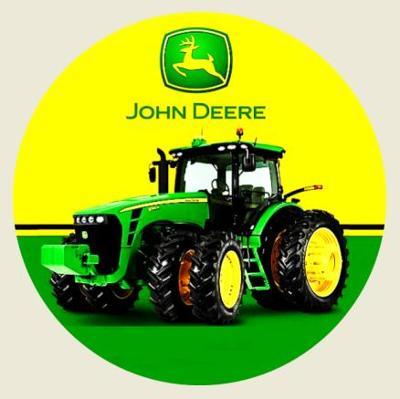 JOHN DEERE traktor, samolepka pr.7-(1x).