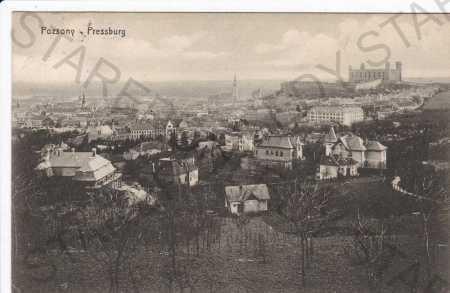 Bratislava, celkový pohled, kolorovaná