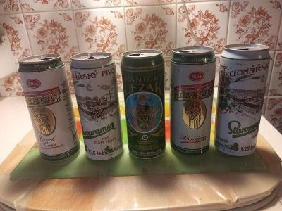 Pivní plechovky - mix - 5 ks