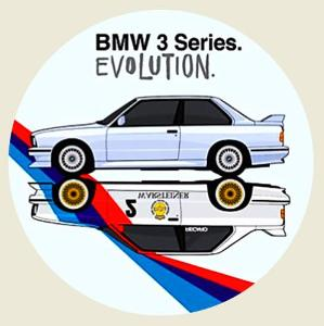 BMW 3 Series EVOLUTION., samolepka pr.7-(1x).