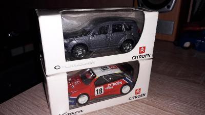 Citroen Xsara WRC + C - Crosser - 2x model 1:64 NOREV TOP stav+krabice