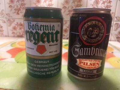 Plechovky - Bohemia Regent a Gambrinus - export
