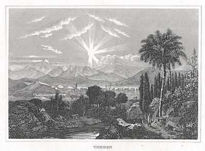 Theben, oceloryt, 1850