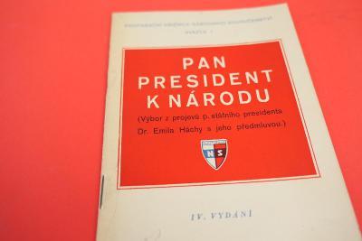Emil Hácha - Pan president národu / Výbor z projevů (1939)