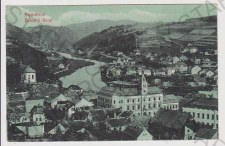 Železný Brod (Eisenbrod), celkový pohled, Jablonec
