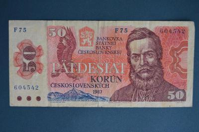 Československo 50 Kčs - 1987