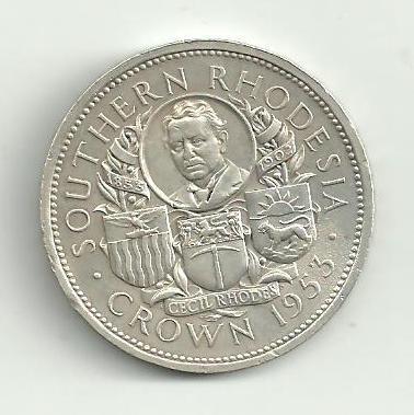1 Crown  Rhodesie 1953 stříbro