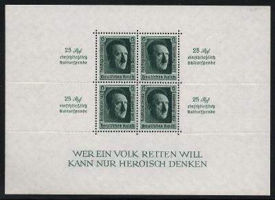 Deutsches Reich - ADOLF HITLER - BLOCK 11 **