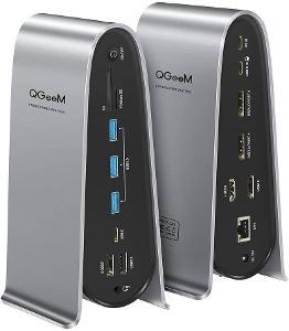 Dokovací stanice USB C, QGeeM 4K