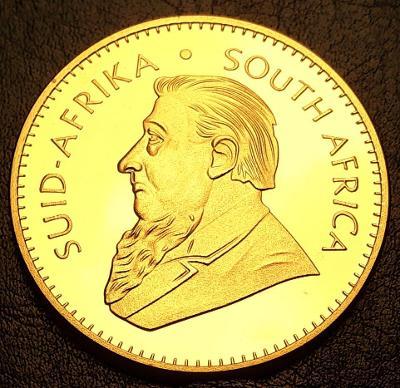 Jižní Afrika,1 Krugerrand 1974 ,1 unce čistého zlata, pozlacená kopie