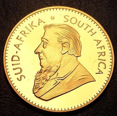 Jižní Afrika,1 Krugerrand 1978 ,1 unce čistého zlata, pozlacená kopie