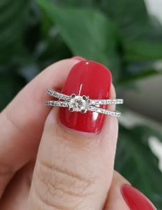 Diamantový prsten AU 585 / brilliant 0,18ct