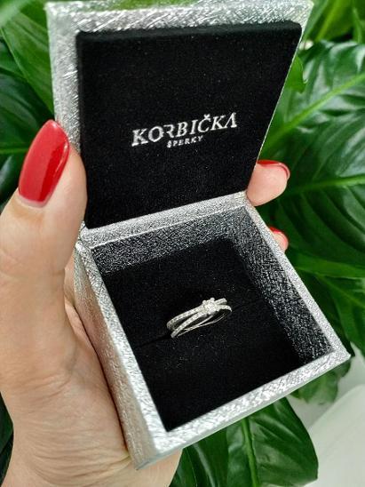 Diamantový prsten AU 585 / brilliant 0,18ct - Šperky